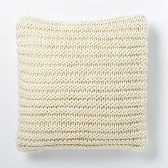 Horizontal Double Rib Pillow Cover - Ivory #westelm