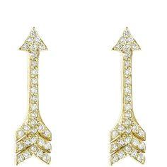 JENNIFER MEYER arrow stud earring - Jennifer Meyer Jewelry - Polyvore