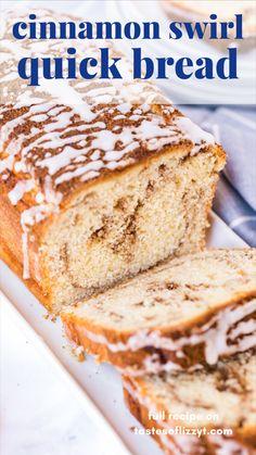 Easy Desserts, Delicious Desserts, Dessert Recipes, Yummy Food, Irish Desserts, Cinnamon Desserts, Cinnamon Recipes, Quick Bread Recipes, Banana Bread Recipes