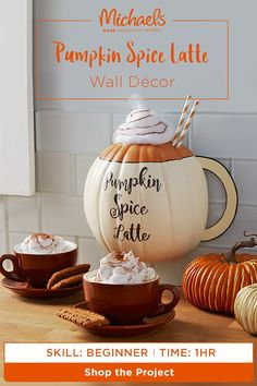 Is it possible to love fall décor more than pumpkin spice? We think YES! Celebrate your love for the latte with this pumpkin spice latte wall décor. Find the complete how to and more on the Michaels project page.