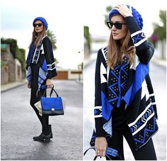 Look of the day: Sheinside Cardigan, Lusstra Boots, persunmall bag, stradivarius beanie, @lookbookdotnu #sheinside #looks #outfits #ootd #marilynscloset #fashionblogger #streetstyle #ethnic #lookoftheday #lookdeldia #estilo #cardigan http://marilynsclosetblog.blogspot.com.es/2014/11/matching-all-blue-videoshopping.html