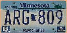 US-Nummernschild aus Minnesota - Ten Thousand Lakes - original - Hausnummern und Schilder online kaufen