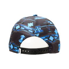 Neff x Mac Miller Milltop Blue Snapback Hat ($28) ❤ liked on Polyvore featuring accessories, hats, snapbacks, fitted hats, blue fitted hat, graphic hats, tribal print snapback and neff snapback