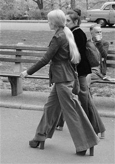 70's. I do remember seeing grown ups wear clothes & shoes like this.
