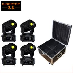 4IN1 Roadcase Pack 90W Led Moving Head Light Chinese Led Stage Lighting 1 Color Wheel/2 Gobo Wheel Disco/Night Club/ktv/Theater #Affiliate