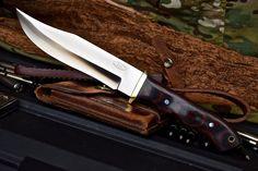 CFK USA Custom Handmade D2 Steel FRONTIER Fighter Combat Civil War Bowie Knife #CFKCutleryCo