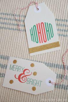 Printable Christmas Gift Tags {With Easy Ways to Embellish Them!}