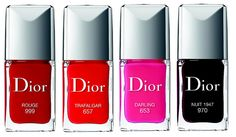 Dior Le Vernis Nail Lacquers from the Fall 2013 Rouge Dior Collection