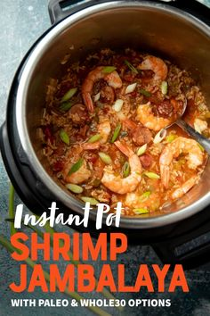 This Cajun dish is a speedy weeknight dinner! In less than a half hour, you can have spicy, flavorful Instant Pot Shrimp Jambalaya on your dinner table. #instantpot #jambalaya