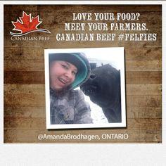 Love your food? Meet your cc Snelson Brodhagen Farmers, Meet You, Ontario, Amanda, Love You, Beef, Food, Meat, Te Amo
