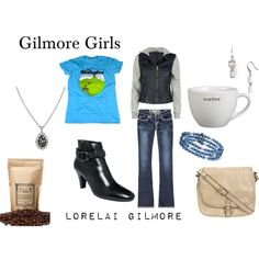 Lorelai Gilmore, created by #oliviairene14 on #polyvore.