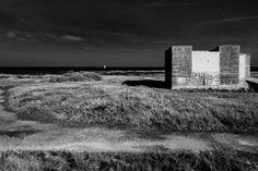 Le blockhaus et la voile blanche Ile de Noirmoutier - Pointe de l'Ile