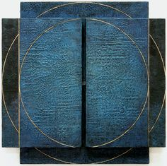"Astrid Fitzgerald | No. 314 | encaustic on wood, 16 1/4""H x 16 1/4""W x 1""D"