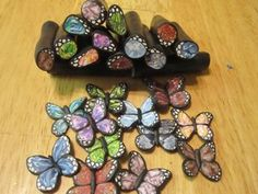polymer clay Butterfly  | These more complex wings were made with my gemstone cane tutorial.