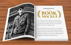 Open Book Design PSD Mockup for Photorealistic Presentation Page Design, Book Design, Photoshop Software, Free Mockup Templates, Free Opening, Book Stands, Paper Book, Book Projects, Packaging