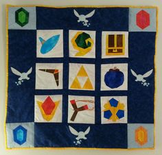 Legend of Zelda: Ocarina of Time Wall Quilt by Zaera.deviantart.com on @deviantART
