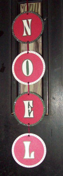 Christmas decoration - DIY Christmas door hanging. Repurpose old cds / dvds