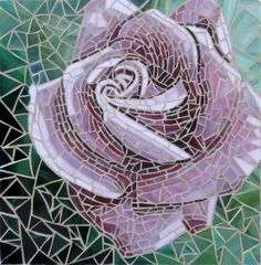 Pink Rose Glass Mosaic - Wave of Color Mosaic - Etsy