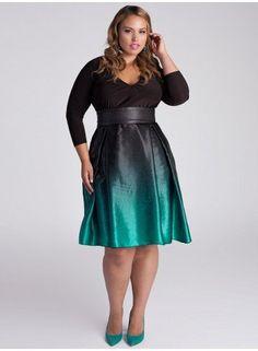 Gorgeous Plus Size Ombre Dress