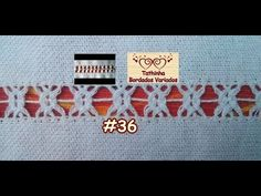 PONTO ENTRELAÇADO SIMPLES E DUPLO (GIRAMUNDO)- Tathinha Bordados #36 - YouTube Hardanger Embroidery, Hand Embroidery, Plastic Canvas Stitches, Hem Stitch, Drawn Thread, Needle Lace, Bargello, Diy And Crafts, Crochet Necklace