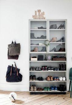 Entryway shoe storage. | apartment34.com