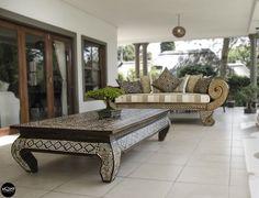 Indonesian Opium Coffee Table - Brown