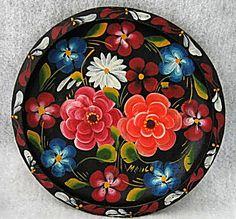 Colorful Floral Mexican Batea Tray by vintagejunque, via Flickr