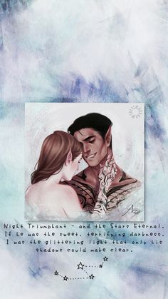 A Court Of Wings And Ruin, A Court Of Mist And Fury, Fanart, Saga, Rowan, Feyre And Rhysand, Night Sky Stars, Empire Of Storms, Sarah J Maas Books