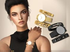 The Sims Resource: Fawn Watch and Bangles by toksik • Sims 4 Downloads