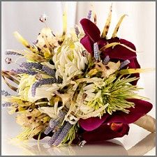 Exotic Mum & Orchid Wedding Bouquet
