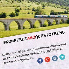 Contest - Scatta un selfie per la Sulmona-Carpinone e vinci un soggiorno a Masseria Monte Pizzi #nonperdiamoquestotreno #transiberianaditalia