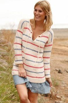 Knit Pippi Longstocking blouse   knitting pattern sweater tunic
