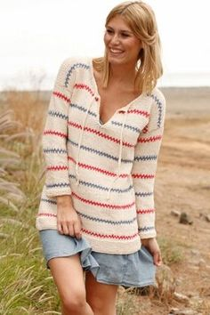 Emilia Jumper By DROPS Design - Free Knitted Pattern - (garnstudio) Sweater Knitting Patterns, Knitting Stitches, Knit Patterns, Free Knitting, Drops Design, Tunic Pattern, Free Pattern, Knitting Projects, Crochet Projects