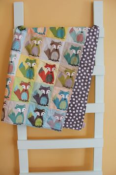 Baby QUILT fox baby blanket by PETUNIAS baby gift by PETUNIAS, obsessed with this.