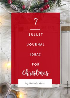 7 Christmas ideas for bullet journaling <3