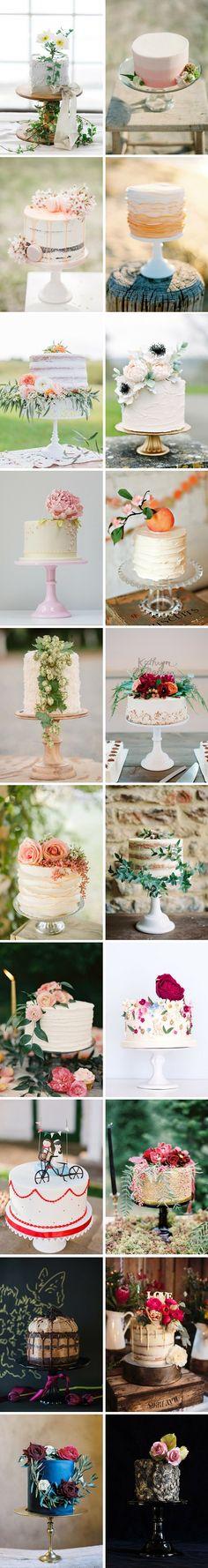 20 Wow Single Tier Wedding Cakes