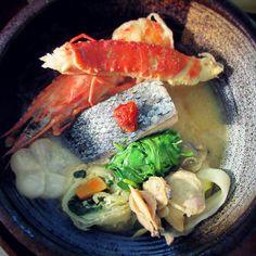 Salmon and seafood hotpot, Hokkaido-style. 石狩鍋 Ishikari Nabe  #nabe #japanesefood #washoku