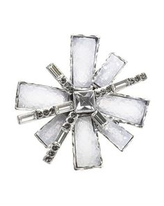 Coldwater Creek Crystal frost snowflake silver pin in Holiday 2012 from Coldwater Creek on shop.CatalogSpree.com, my personal digital mall.