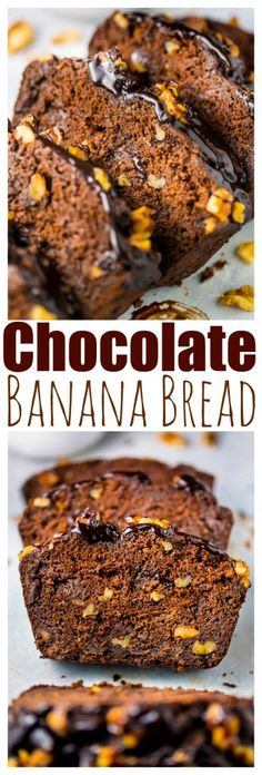 Super YUMMY Healthy Chocolate Banana Bread! Made this one twice in one week!