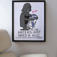 Fancy - Haters Just Need A Hug Print http://www.thefancy.com/things/273597623/Haters-Just-Need-A-Hug-Print#