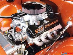 Chevy Engine. Found in Cadillac sedan de ville 69. 572 ci of raw gas guzzling power. That's a monster. Made in Big Block.