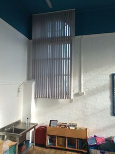 Vertical Blind installed with a 4m drop