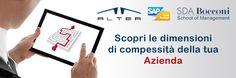 Al via la ricerca condotta da SDA Bocconi School of Management  sulla gestione della complessità aziendale. ALTEA SpA vi partecipa insieme a SAP Italia. Contribuisci anche tu compilando una semplice websurvey  per identificare le aree di complessità della tua azienda. Scoprila su www.alteanet.it