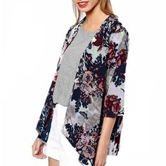 Floral Cardigan Kimono NWT gorgeous floral cardigan kimono. Lightweight. Great to dress up or down! Runs one size smaller than tag size (eg. XL fit size L) Available in: L, XL, XXXL. [not actually anthropologie; listed for exposure] Anthropologie Tops Tunics