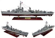 USS GEARING CLASS FLETCHER model is all hand-crafted from hard wood with planks on frame construction and painted as the real ship. There are no plastic and this model is ready for display.