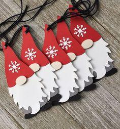 Gnome Gift Tags – Holiday Gnome Tags – Set of 6 - Dekoration Christmas Crafts For Kids, Christmas Projects, Holiday Crafts, Christmas Cards, Christmas Decorations, Christmas Ornaments, Christmas Truck, Christmas Greetings, Gift Crafts