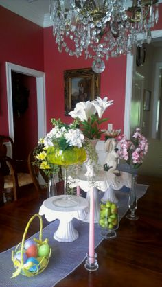 Easter Tablescape by Gray Estates. Visit us at www.grayestates.com.