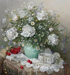 lydia datsenko | Lydia Datsenko - Peonies(720х669) | art i love | Pinterest