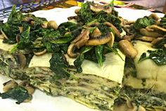 Spinach and Mushroom Lasagna Spinach Mushroom Lasagna, Spinach Stuffed Mushrooms, Fresh Coffee, Bakery, Meat, Chicken, Food, Gourmet, Essen