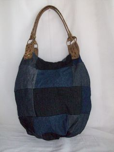 ecobag patchwork jeans & couro